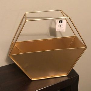 Fun gold geometric planter